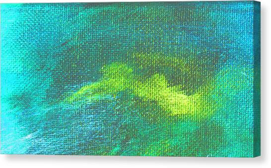 Intensity Aqua Blue Canvas Print by L J Smith