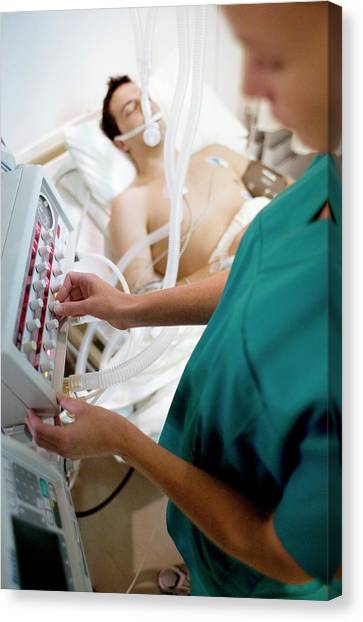 Critical Canvas Print - Intensive Care Patient by Ian Hooton/science Photo Library
