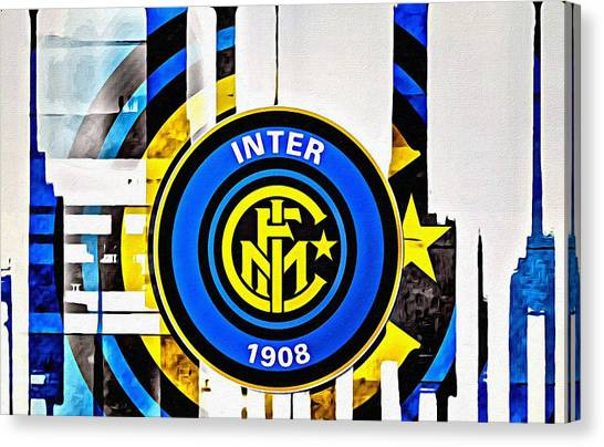 Inter Milan Canvas Print - Inter Milan Poster Art by Florian Rodarte