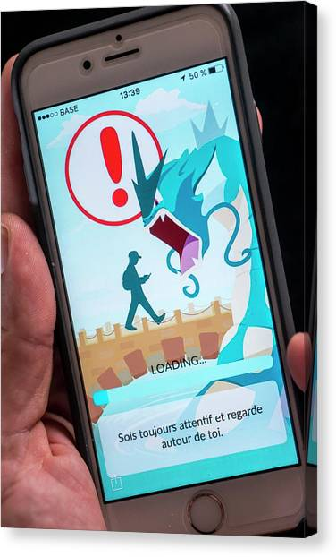 Pokemon Go Canvas Print - Interactive Smartphone Game by Danny Gys/reporters/science Photo Library