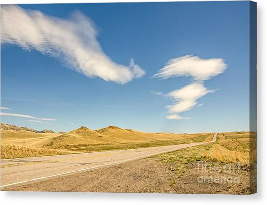 Interesting Clouds In Big Sky Country Canvas Print