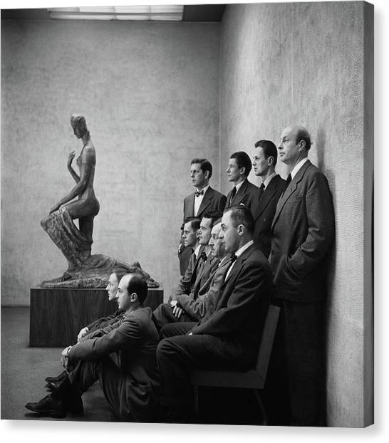 Interior Designers At Moma Canvas Print by Cecil Beaton