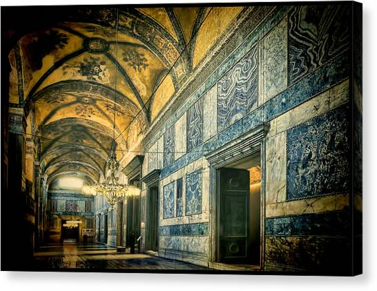Byzantine Art Canvas Print - Interior Narthex by Joan Carroll