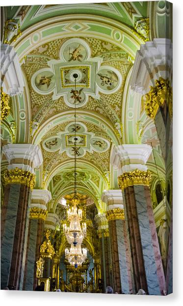 St John The Russian Canvas Print - Interior Of Cathedral Of Saints Peter And Paul - St. Petersburg  Russia by Jon Berghoff