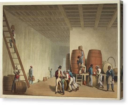 Distillery Canvas Print - Interior Of Distillery by British Library