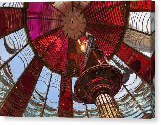 Canvas Print featuring the photograph Interior Of Fresnel Lens In Umpqua Lighthouse by Bryan Mullennix