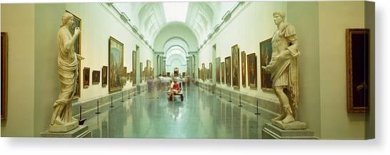 Prado Canvas Print - Interior Of Prado Museum, Madrid, Spain by Panoramic Images