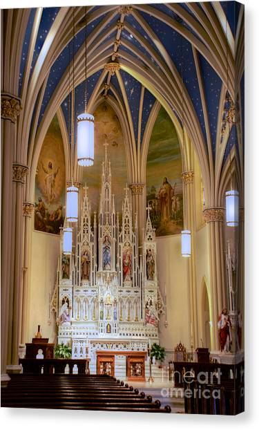 Interior Of St. Mary's Church Canvas Print