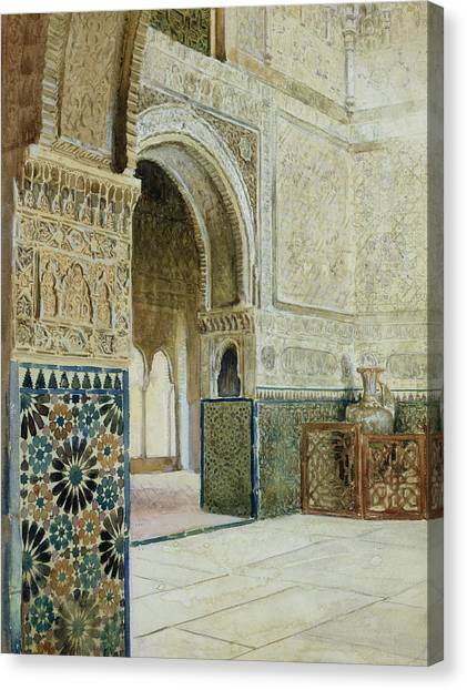 Influence Canvas Print - Interior Of The Alhambra  by French School