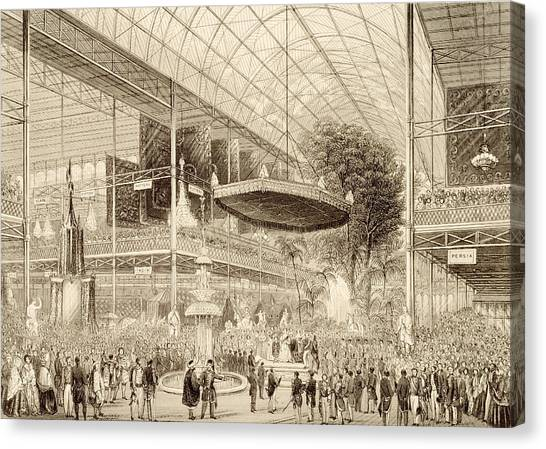 The British Museum Canvas Print - Interior Of The Great Exhibition, Grand by English School