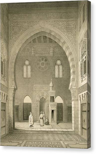 Islam Canvas Print - Interior Of The Mosque Of Qaitbay, Cairo by French School
