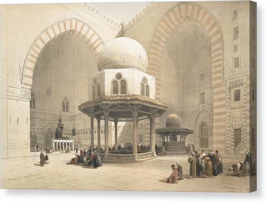 Islam Canvas Print - Interior Of The Mosque Of The Sultan El by David Roberts