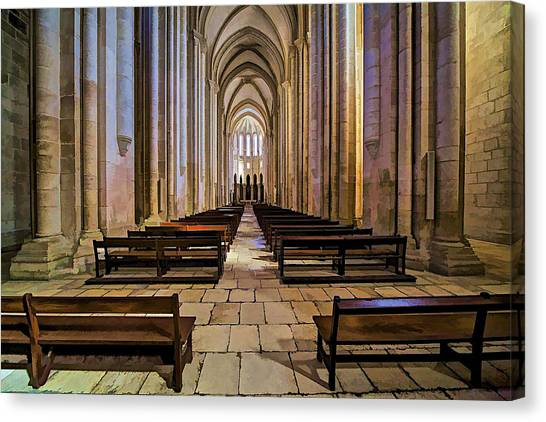 Interior Of The Monastery Da Batalha Canvas Print