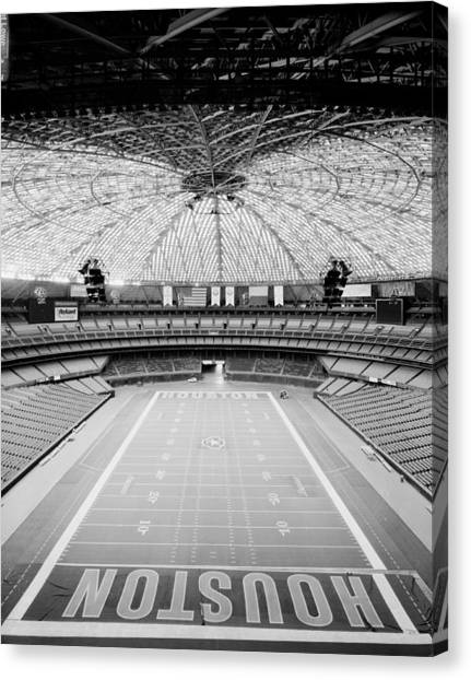 Houston Astros Canvas Print - Interior Of The Old Astrodome by Mountain Dreams
