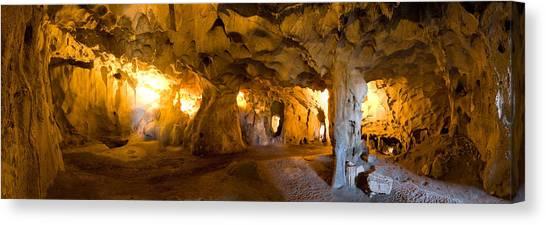 Limestone Caves Canvas Print - Interiors Of A Prehistoric Cave, Karain by Panoramic Images