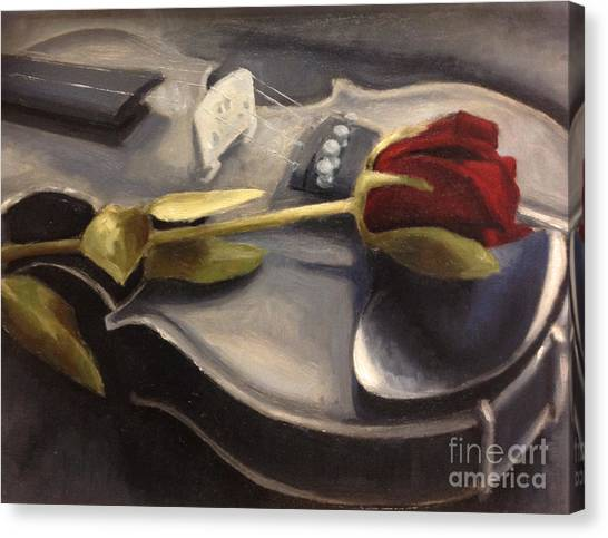 Violins Canvas Print - Interlude by Alison Schmidt Carson