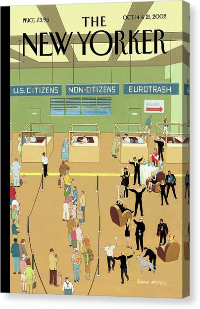 International Arrivals Canvas Print by Bruce McCall