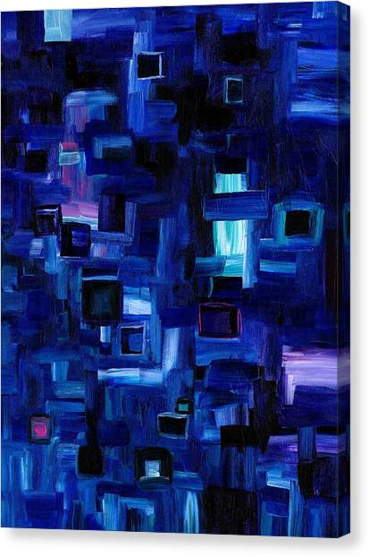 Interplay Blue Canvas Print