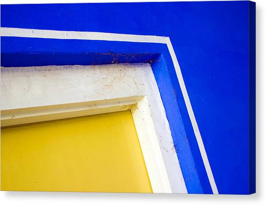Interplay Of Colors And Geometry Canvas Print