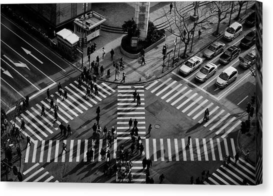 Intersection ( Crossing Alternatives ) Canvas Print by C.s. Tjandra