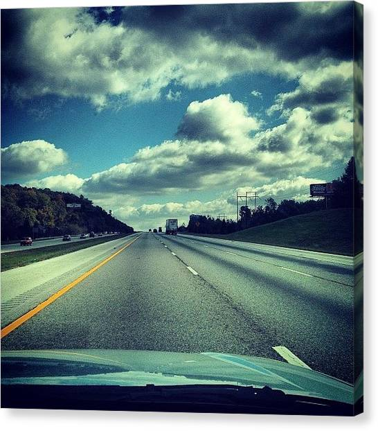Interstates Canvas Print - #interstate #headedhome #clouds by S Smithee
