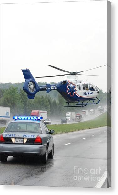 Interstate Rescue Canvas Print by Steven Townsend