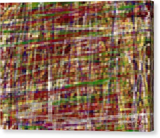 Fabric Of Society Canvas Print - Intertwined by J Burns