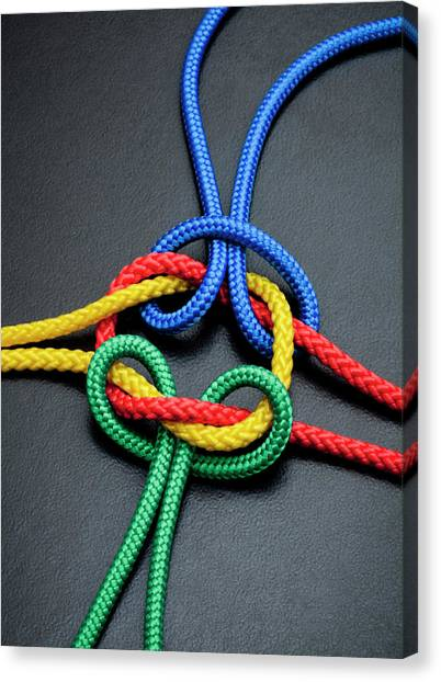 Intertwined Multicolored Ropes Canvas Print by Jorg Greuel