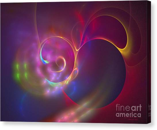 Canvas Print featuring the digital art Into The Blue by Sipo Liimatainen
