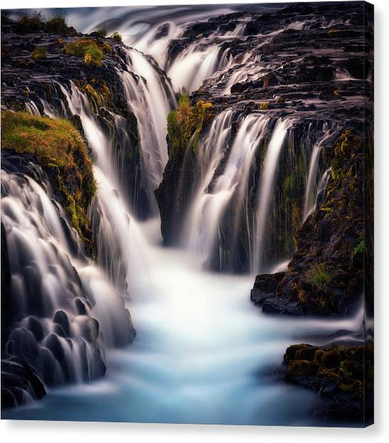 Waterfalls Canvas Print - Into The Blue by Stefan Mitterwallner