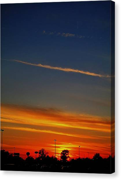 Into The Bluest Sky Canvas Print