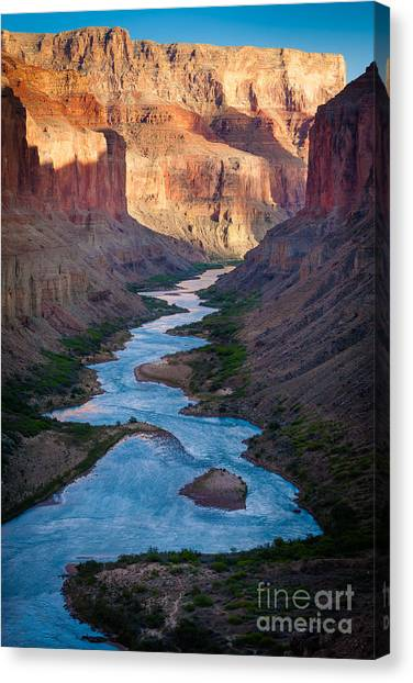 Colorado Rapids Canvas Print - Into The Canyon by Inge Johnsson