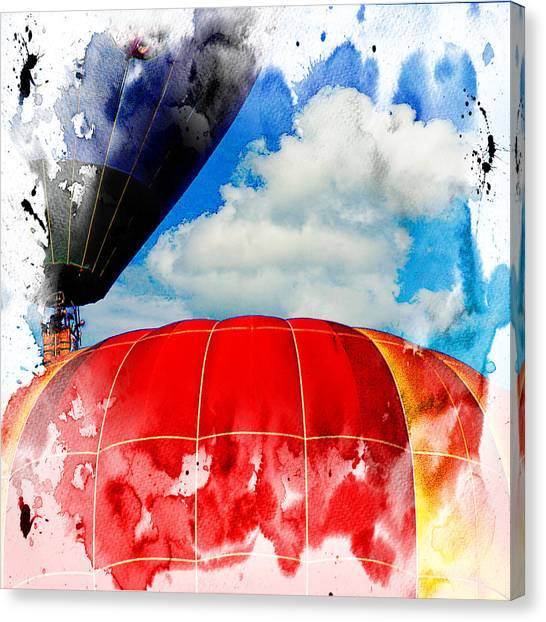 Into The Clouds Canvas Print by Ken Evans