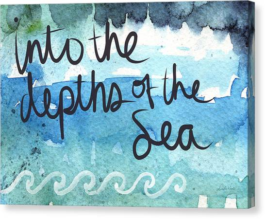 Sin Canvas Print - Into The Depths Of The Sea by Linda Woods