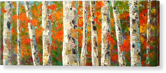 Canvas Print - Into The Fall by Marilyn Hurst