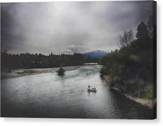 Fishing Poles Canvas Print - Into The Great Wide Open by Laurie Search