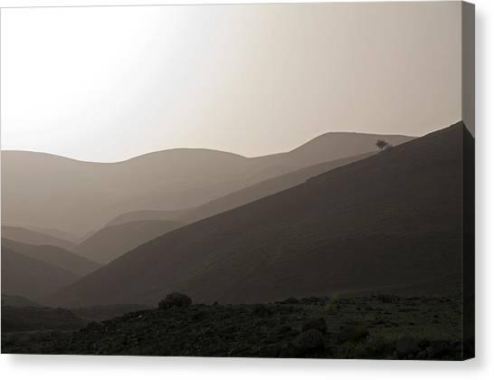Into The Israel Desert - 1 Canvas Print