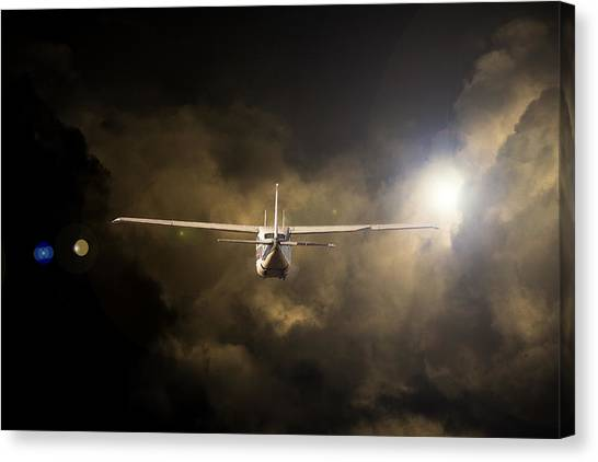 Cessnas Canvas Print - Into The Light by Paul Job