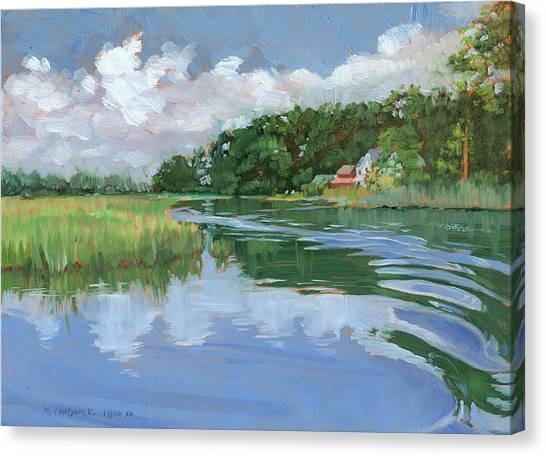 Marsh Grass Canvas Print - Into The Marsh by Marguerite Chadwick-Juner
