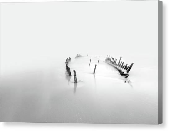 Desolation Canvas Print - Into The Mist by Mel Brackstone