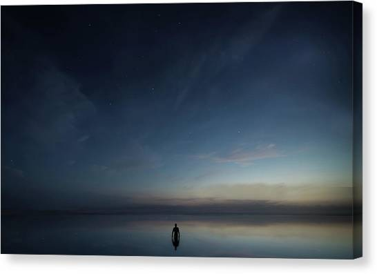 Late Canvas Print - Into The Night by Christian Lindsten