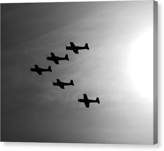 Prop Planes Canvas Print - Into The Sun by Joe Schofield