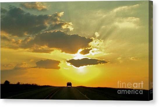 Into The Sunset - No.0580 Canvas Print