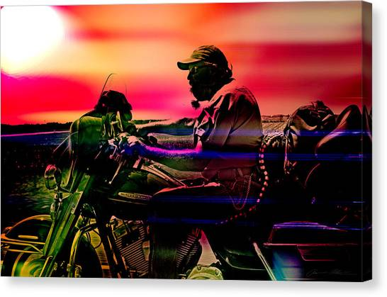 Scoot Canvas Print - Into The Unknown  by Off The Beaten Path Photography - Andrew Alexander