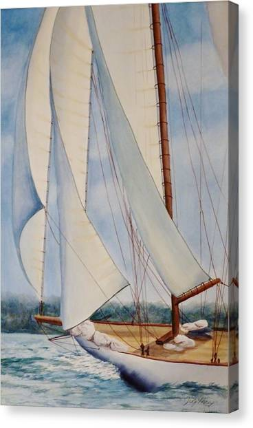 Into The Wind Canvas Print by Judy Meng