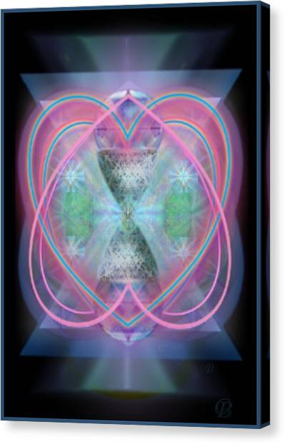 Intwined Hearts Chalice Enveloping Orbs Vortex Fired Canvas Print