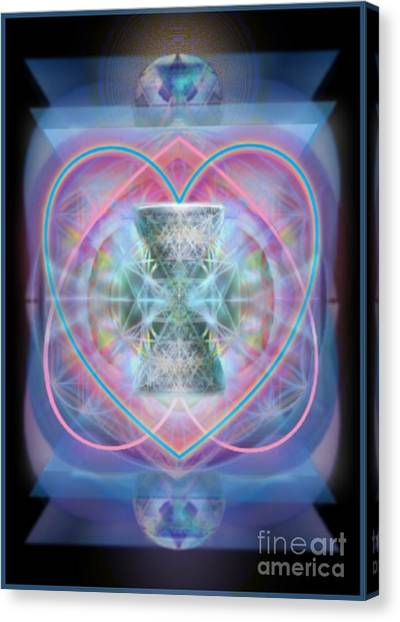 Intwined Hearts Chalice Wings Of Vortexes Radiant Deep Synthesis Canvas Print