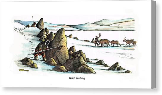 Inuit Waiting Canvas Print