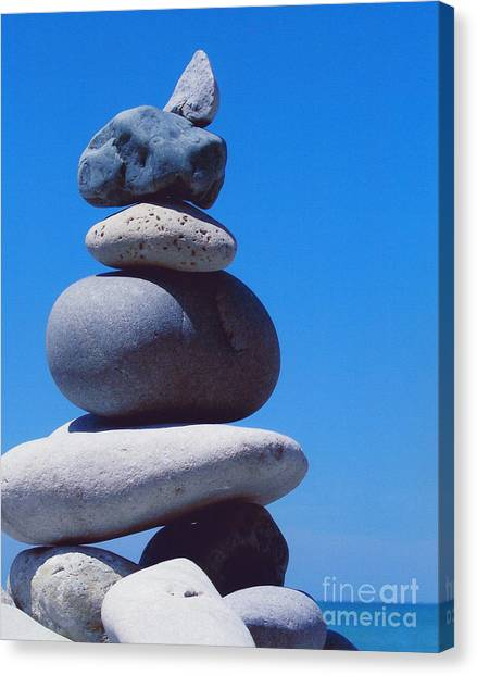 Inukshuk 1 By Jammer Canvas Print