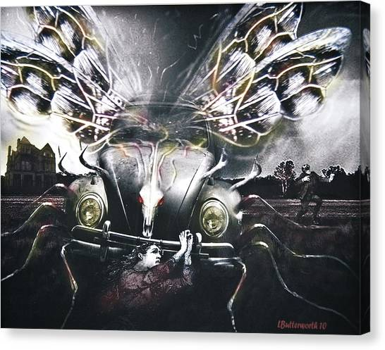 Invasion Of The Mutant Beetles Canvas Print by Larry Butterworth